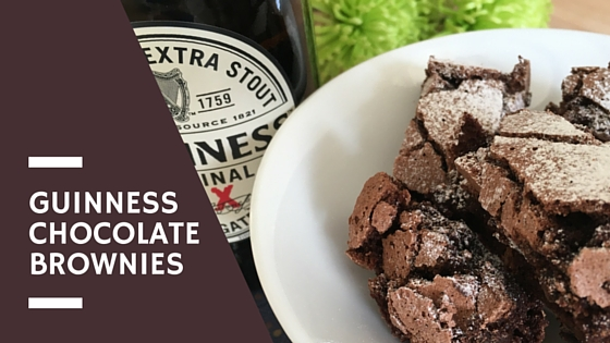 Guinness Chocolate Brownies. St Patrick's Day gifts.
