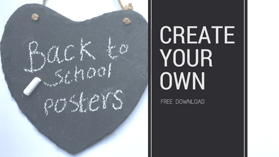 Back to school keepsake posters.  Free download
