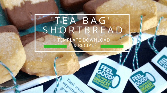 Tea bag shortbread.  Recipe and template download