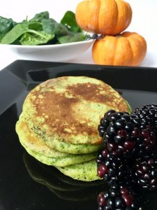 Witches spinach pancakes for Halloween