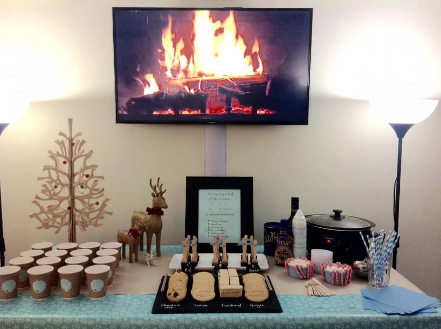 hot chocolate bar to celebrate the switching on of our town Christmas lights