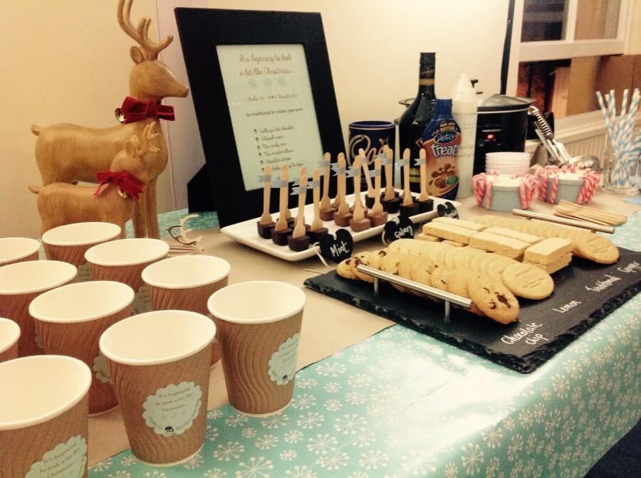 Personalised hot chocolate cups for the hot chocolate bar
