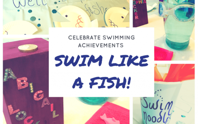 Swimming lesson treats: swim like a fish!