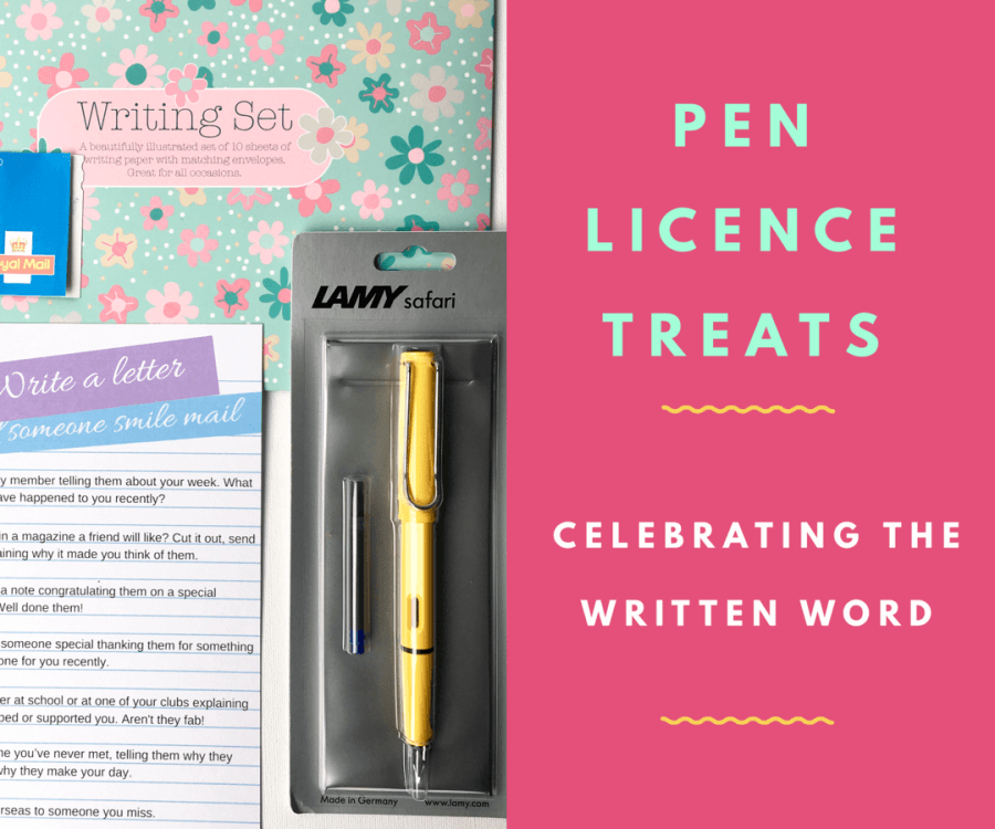 Celebrating a Pen Licence and handwritten letters