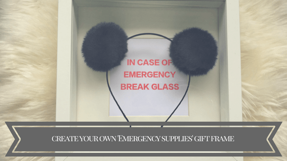 Create your own 'emergency supplies' frame