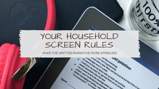 Screen rules: a template to add your own guidelines