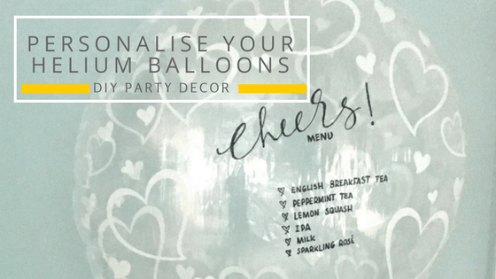 Personalise those helium balloons